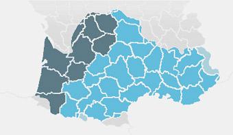 Carte de l'occitan en France