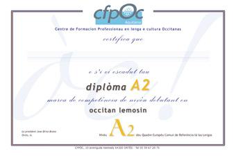 certification Occitan A2