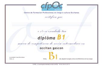 certification Occitan B1