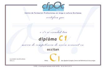 certification Occitan C1